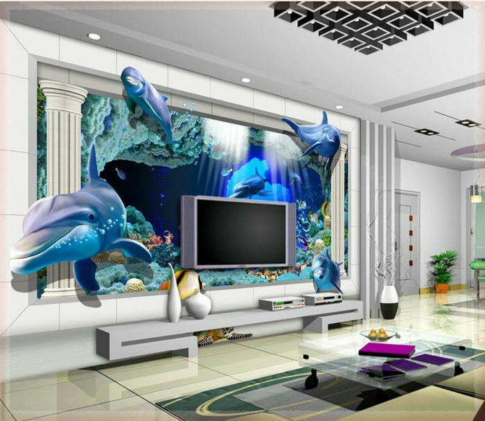Wandgestaltung-Wohnzimmer-super-luxuriös-und-schick
