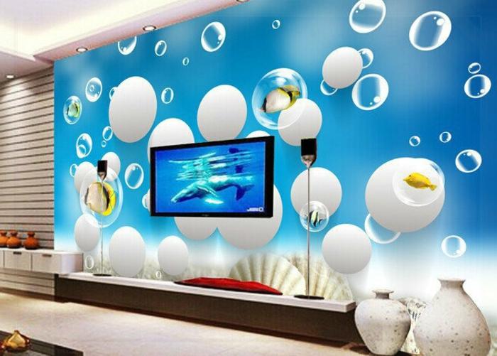 Wandgestaltung-Wohnzimmer-unterwasser-wlt