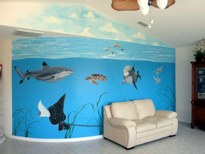 91 wohnzimmer unter wasser benutzerdefinierte mural for Kinderzimmer unterwasserwelt