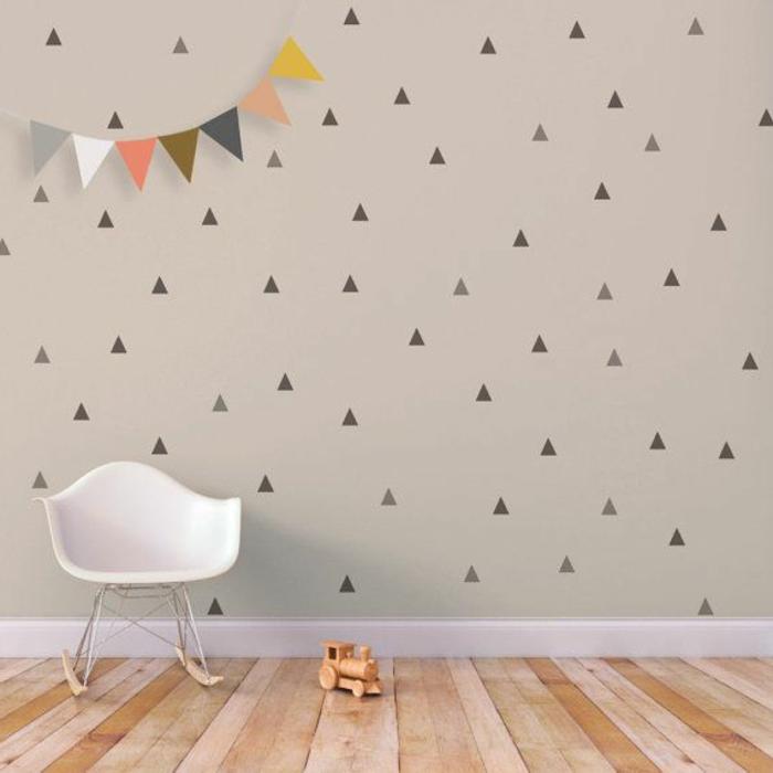 Wandtattoos f r kinderzimmer eine super idee - Wandtattoo dreiecke ...