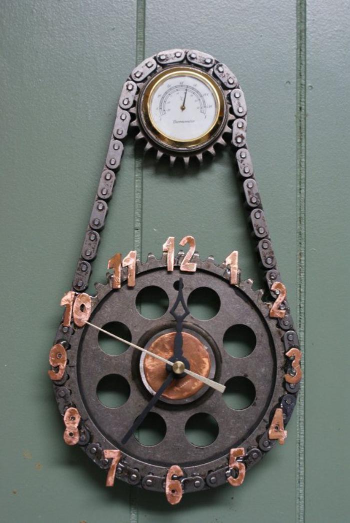 Wanduhr-vintage-Modell-Mechanismus