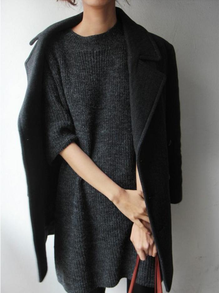 Wollmantel-Damen-Pullover-alltäglicher-Outfit
