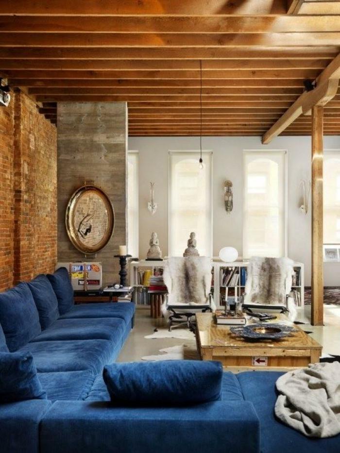Afrika Deko Blaues Sofa Schönes Modell