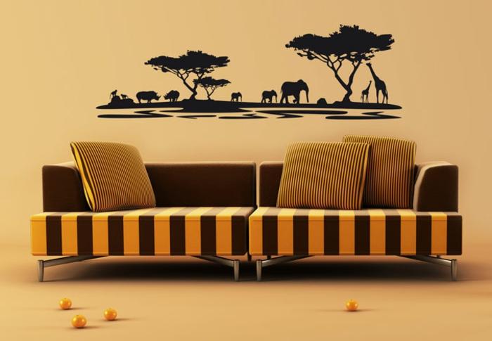 wohnzimmer afrika deko sch?nes sofa mit dekokissen ...
