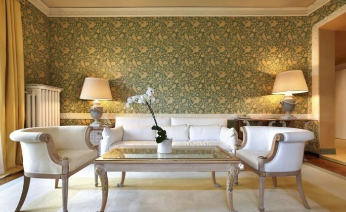 Wohnzimmer Tapeten Gestaltung : aristokratisches Interieur des Wohnzimmers