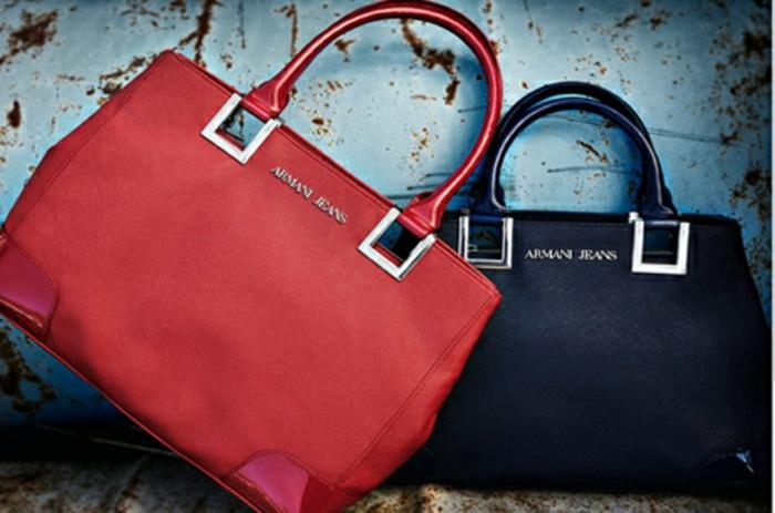 armani-taschen-rot-blau-leder