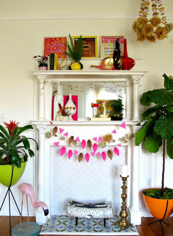 artistische-Ecke-Kerzenhalter-Flamingo-Vasen-Dekoartikel-boho-stil