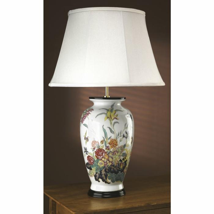asiatische-Nachttischlampe-Porzellan-schöne-Zeichnungen