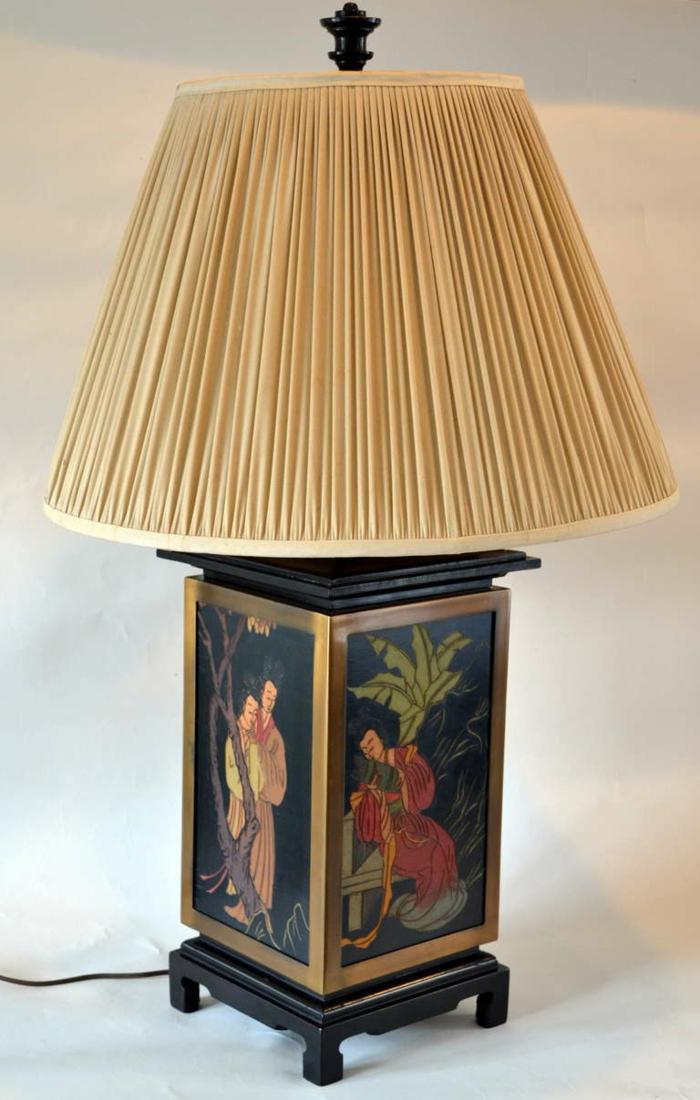 asiatische-moderne-Tischlampe-Zeichnungen