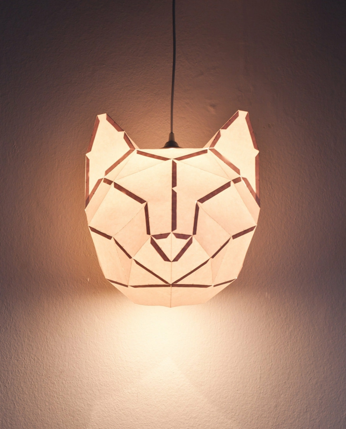 stehlampe aus papier f r ein auff lliges interieur. Black Bedroom Furniture Sets. Home Design Ideas