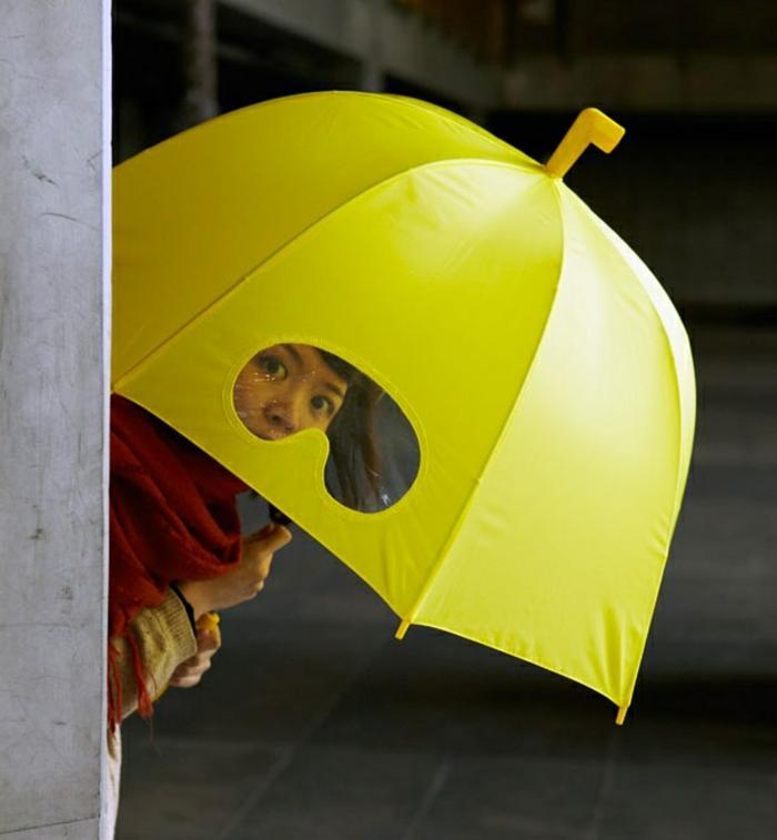 ausgefallene-regenschirme-gelbe-gestaltung