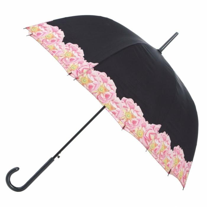 ausgefallene-regenschirme-pink-mit-schwarz-kombinieren