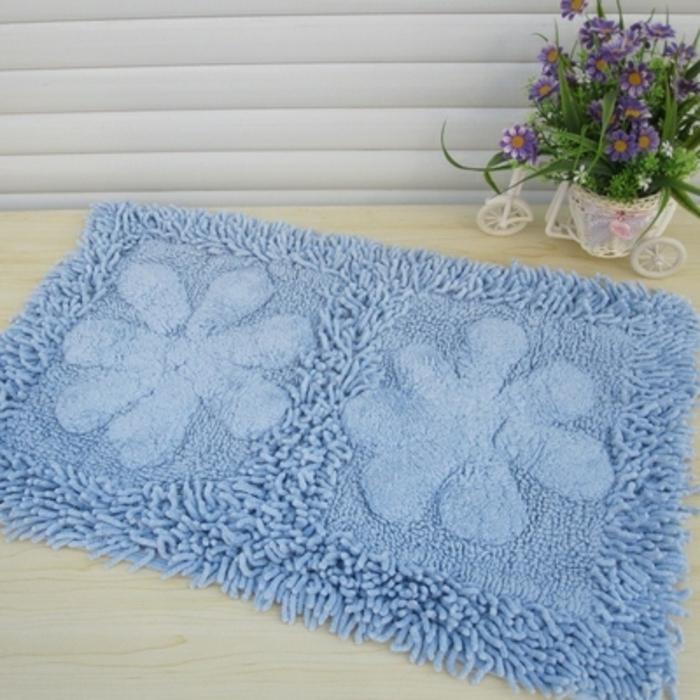 baumwolle-badematte-blaues-schönes-modell