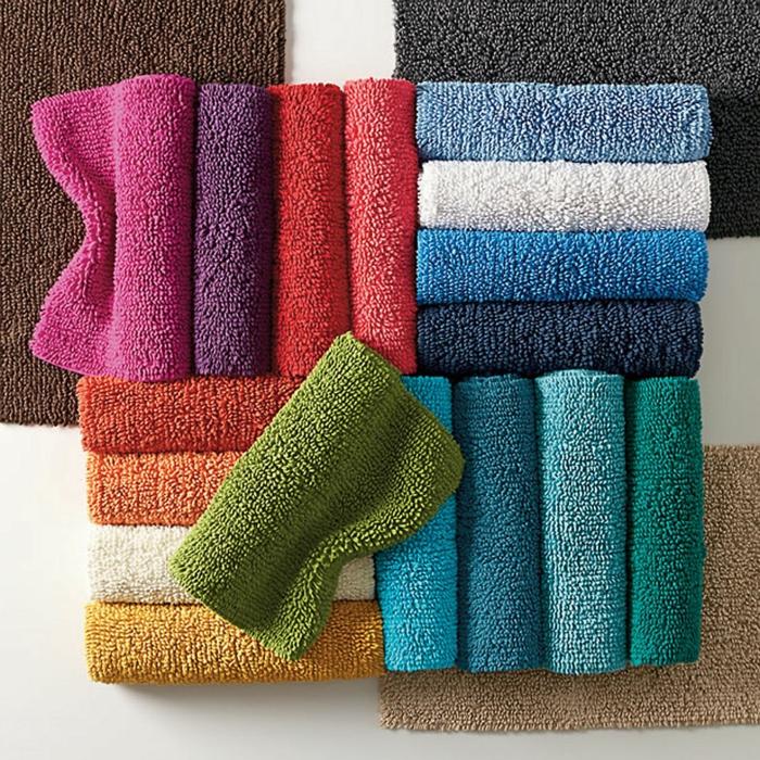 baumwolle-badematte-bunte-schöne-farbschemen