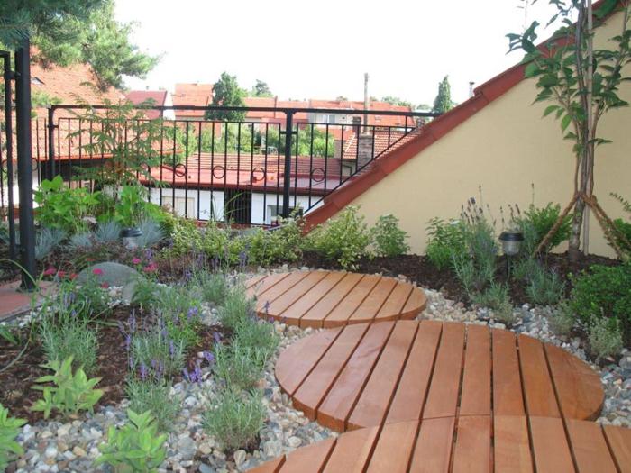 bepflanzung - dachterrasse-deko-ideen-für-boden