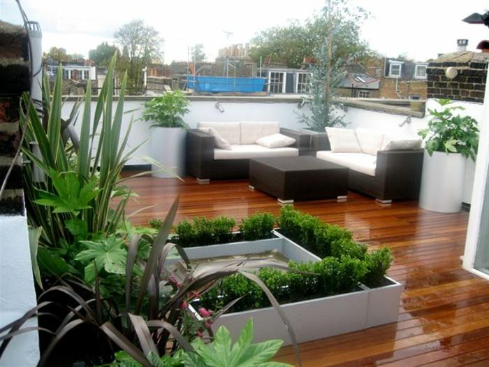 Beliebt Bevorzugt 54 Bilder mit Bepflanzung für Dachterrasse - Archzine.net @SH_54