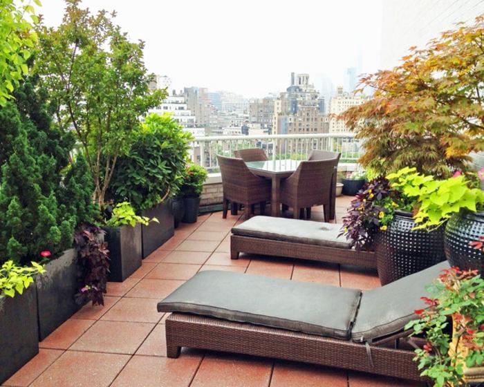 Beliebt Bevorzugt 54 Bilder mit Bepflanzung für Dachterrasse - Archzine.net @NA_37