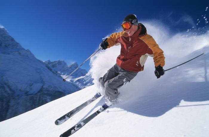 einmalige und extravagante skifahrer bilder