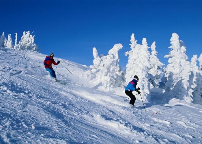 bilder-von-skifahren-zwei-menschen-fahren-ski