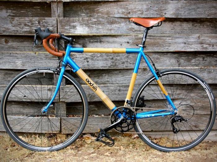 blaues-Fahrrad-schickes-Design-Bambus-Rahmen