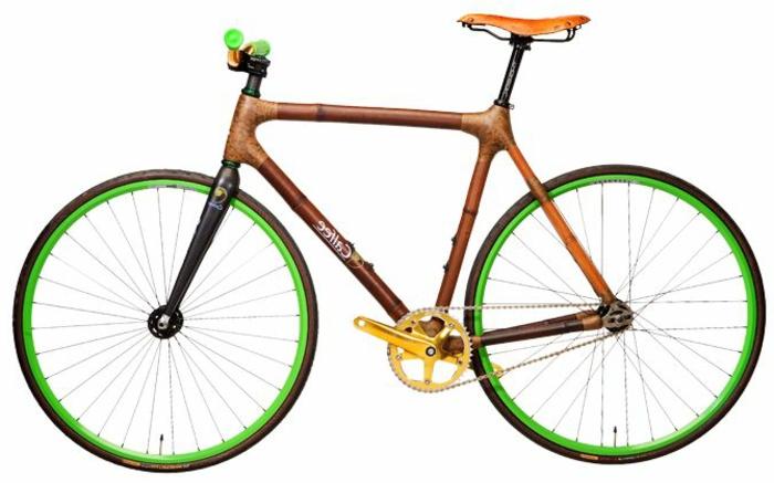 buntes-Fahrrad-vintage-modell-bambus-Rahmen