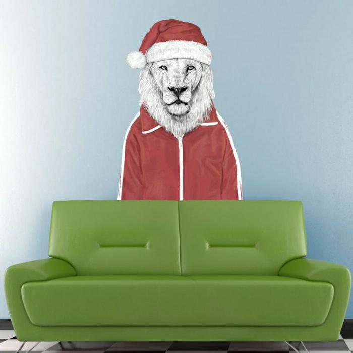 coole-Wandtattoos-Santa-Löwe