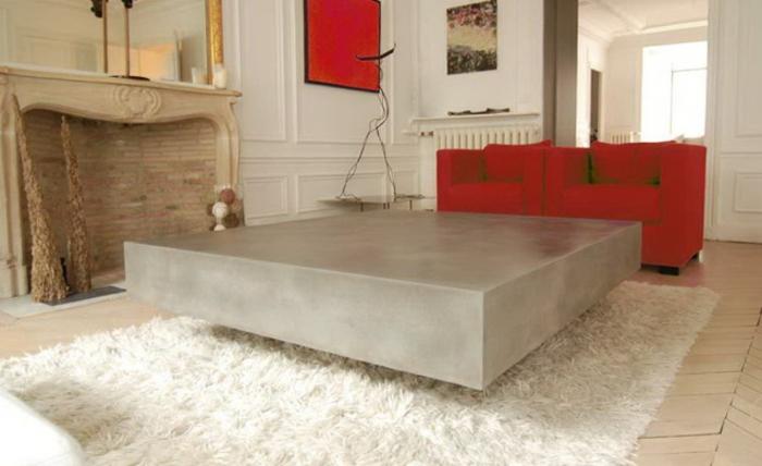 wunderschönes modell - beton couchtisch