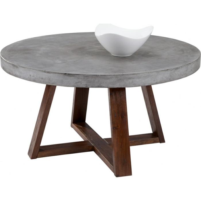 Couchtisch aus beton eine extravagante idee for Runder couchtisch design