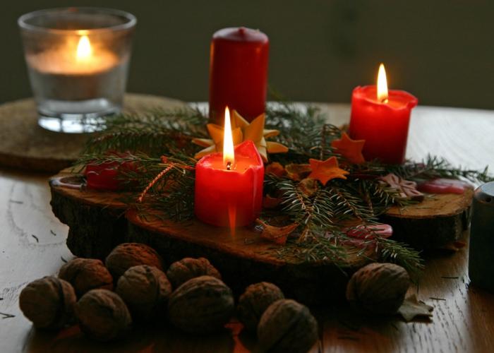 deko-ideen-Weihnachten-schöne-Tischdekoration