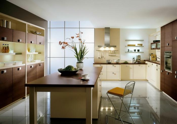 deko-ideen-für-küche-beige-farbschemen