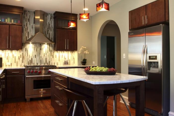 deko-ideen-für-küche-hängende-lampen
