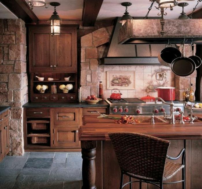 einmalige rustikale küche - schönes modell