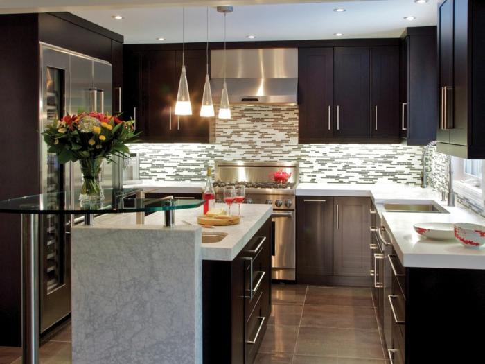 deko-ideen-für-küche-schöne-schwarze-möbel