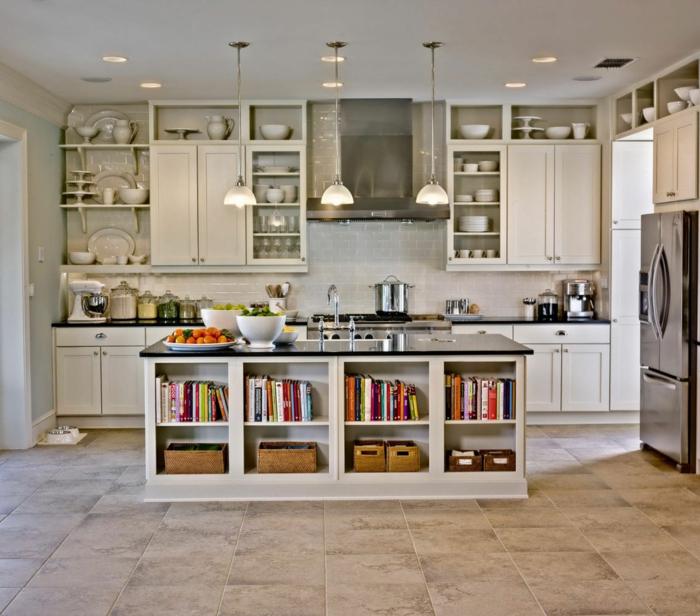 deko-ideen-für-küche-weiße-schöne-attraktive-gestaltung