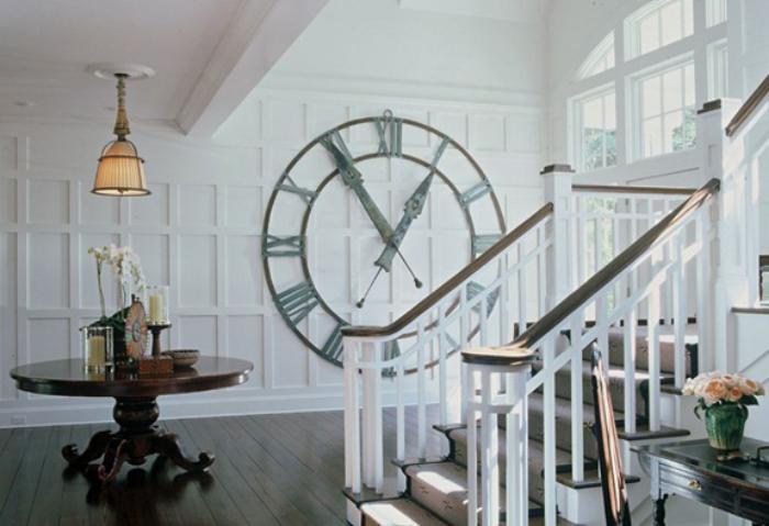Designer-Wanduhren-dekorative-Wanduhr-großes-Modell-weiße-Wohnzimmer-Gestaltung