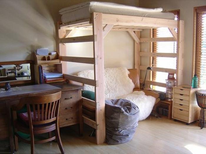 diy-bett-hochmodell-interessantes-schlafzimmer