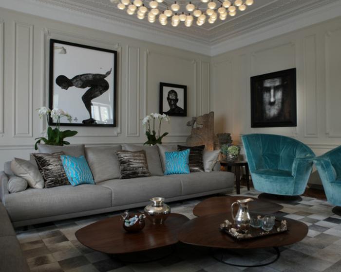 Deko wohnzimmer türkis  Kissen in türkis Farbe für eine kreative Gestaltung - Archzine.net