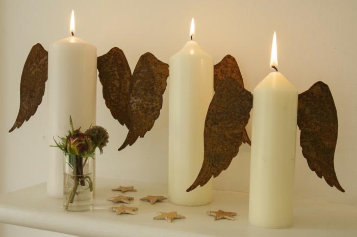 engel -kerzen-originelle-diy-idee-für-winterliche-dekoration