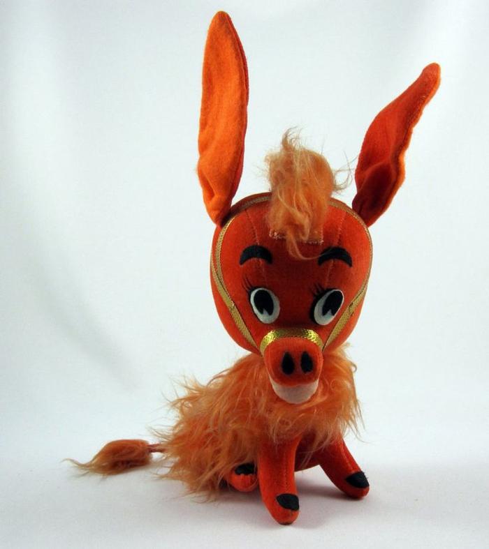 esel-plüschtier-orange-farbe