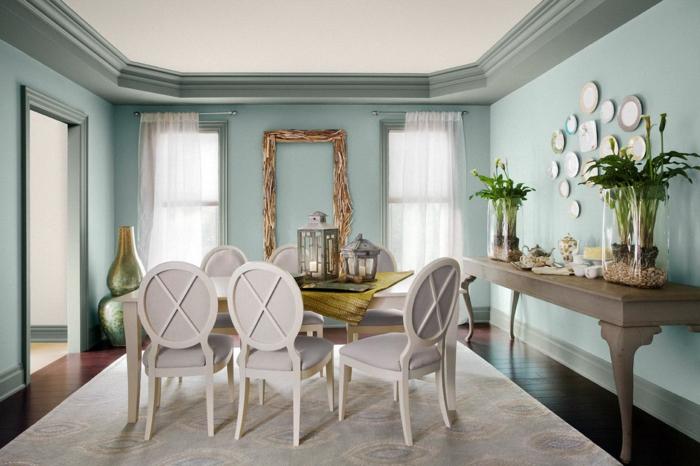 farbliche wandgestaltung beispiele verschiedene ideen f r die raumgestaltung. Black Bedroom Furniture Sets. Home Design Ideas