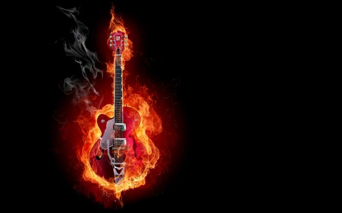feuer-wallpaper-eine-wunderschöne-gitarre