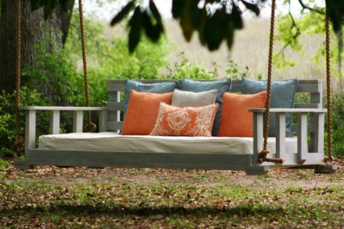 tolle vorschl ge f r gartenschaukel aus holz. Black Bedroom Furniture Sets. Home Design Ideas