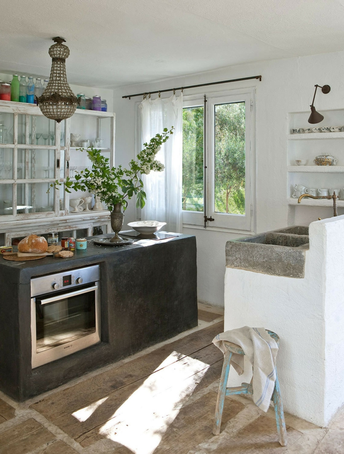 gegenwärtige-Küche-moderne Landhausmöbel-klassisch-rustikal