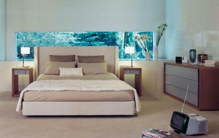 Schlafzimmer Gestalten Gemutlich : super tolles schlafzimmer gemütlich gestalten  akzentwand in blau