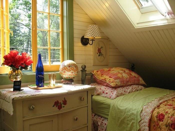 Schlafzimmer Gestalten Gemutlich : rustikales schlafzimmer gemütlich gestalten  in einer dachwohnung