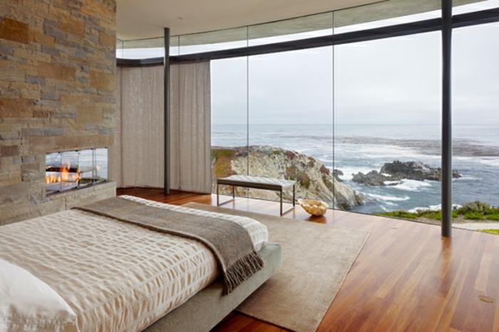 Gemütliches schlafzimmer gestalten gläserne wände super schön