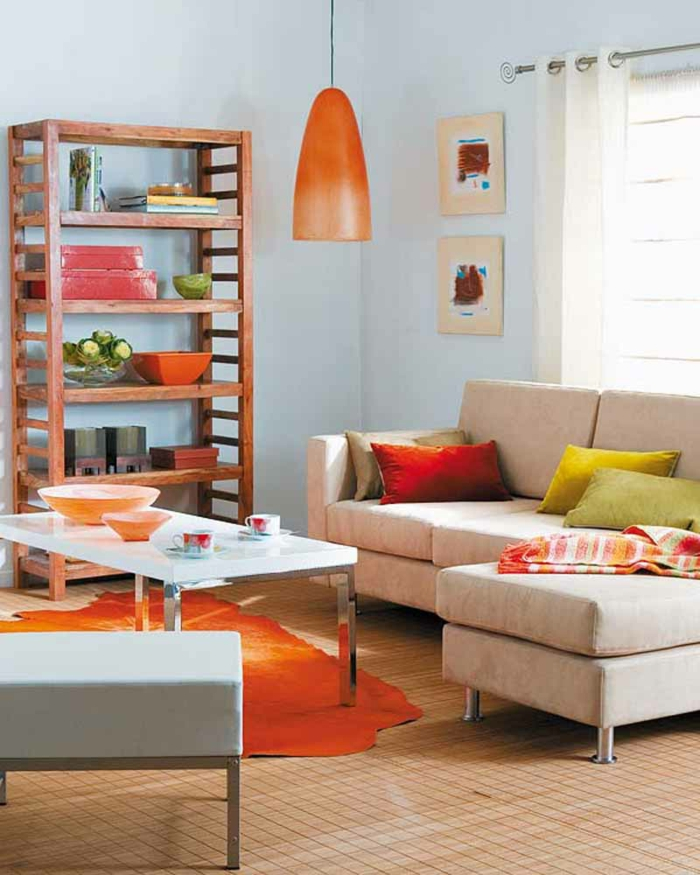 wohnzimmer gestalten orange raum und m beldesign. Black Bedroom Furniture Sets. Home Design Ideas