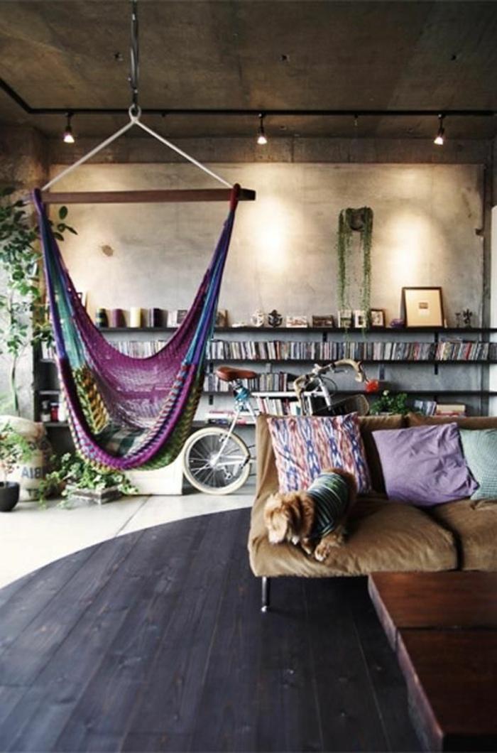 gemütliches-wohnzimmer-eine-wunderschöne-schaukel