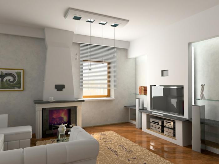 gemütliches-wohnzimmer-graue-wände