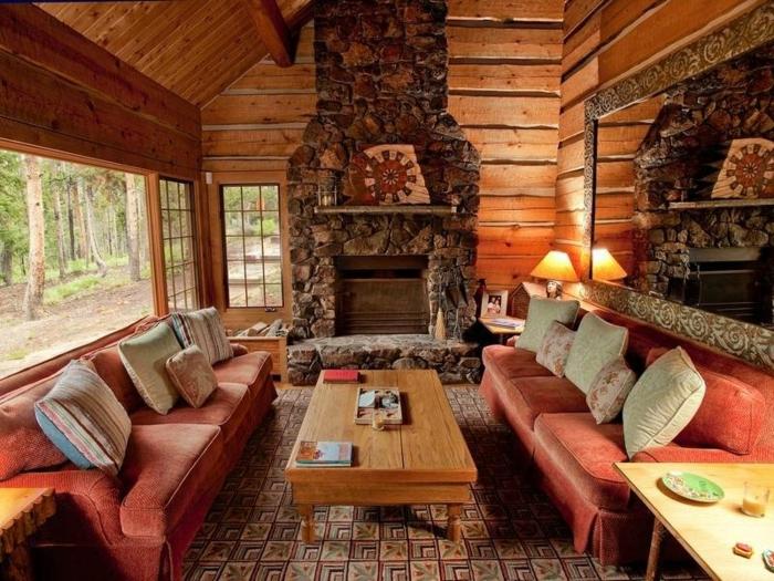 kamin dekor rustikal. Black Bedroom Furniture Sets. Home Design Ideas